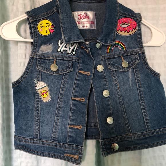 fdcef0167 Justice Jackets & Coats | Girls Jean Vest | Poshmark